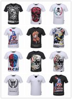 Wholesale Summer Men S Fashion Brand PP Short Sleeve T Shirt Men Casual Solid Color High Quality Skulls Philipp Plein Polo Sports Camisetas T Shirt
