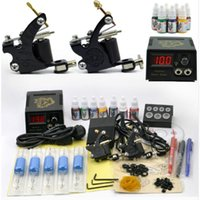 beginners art kit - Professional Tattoo Set Tattoo Guns Color Inks Kit Tattoo Complete Machine rotary Power Supply Body Art Cheap Beginner