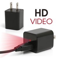 Wholesale Hot G HD P Spy Camera USB Wall Plug Charger Adapter Hidden Camera Recorder