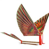 air powered plane - Pc Creative DIY Rubber Band Power Baby Kids Adults Handmade DIY Bionic Air Plane Ornithopter Birds Models Science Kite Toys