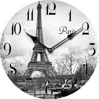 antique french clock - Europe Paris Eiffel Tower Cheap Wall Clock Decor Retro Large Decorative Modern Wall Clock Vintage French Antique Wood Clock