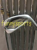 achat en gros de or dynamique arbres de club de golf-2017 Clubs de golf JPX900 Fers forgés 4-9 # PG avec l'acier de l'or dynamique S300 8PCS JPX900 Fers de golf Venez headcover