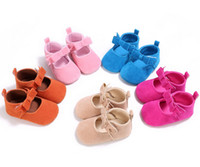 baby lounge - Scrub bow princess toddler shoes neonatal baby lounge interior walking shoes Girl spring shoes hot sale in stock XY