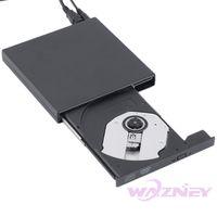 Wholesale 50set Newest USB External DVD Combo DVD RW CD RW Burner Drive CD RW DVD ROM Black USB SLIM portable optical drive