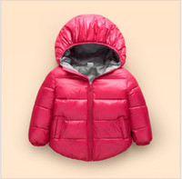 Wholesale Retail New Spring Winter Boys Girls Down Coat Jackets Kids Hooded Down Coats Children Warm Short Outwear cm Colors