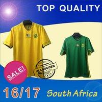al por mayor verde de áfrica-Camiseta de fútbol de primera calidad de Sudáfrica 2016 Camiseta de fútbol de local de fútbol amarilla lejos 16/17 Camisetas de fútbol de Sudáfrica Calidad tailandesa Jeresys