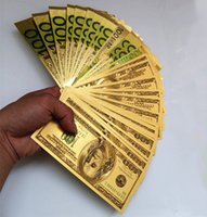 Wholesale 1PC K Gold Foil Banknotes Christmas Gifts Home Decor Collections