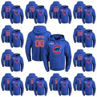 Wholesale Chicago Cubs Custom Hoodie Fukudome Ross Dawson Baez Ron Santo Sandberg Williams Russell Maddux Lester Soler Maddon