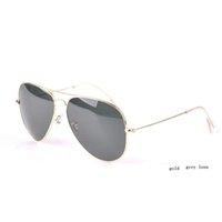 Brand lunettes de soleil classiques gris 58mm 62mm lunettes de soleil mode de vacances hommes lunettes de soleil femmes avec accessoires gratuits