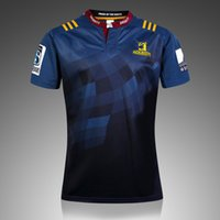 Wholesale Thai quality New Zealand Jerseys Highlanders Home Super Rugby S S Rugby Shirt Highlanders Men Rugby Jersey