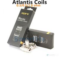 Precio de Atlantis v2 bobinas-Whosaler Aspire Atlantis Bobina Aspire Sub Ohm Coil0.3 0.5 0.5ohm para Aspire Atlantis V1 V2 Clearomizers original DHL envío gratis