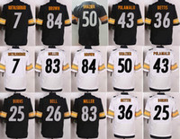 ben steelers - 2017 new Elite Football Stitched Men s Steelers ben BELL BETTIS BROWN MILLER POUNCEY SHAZIER burns Jerseys Mix Order