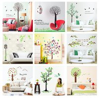 Wholesale One stop Purchase Mixed Tree design wall stickers collection for room decoration CM Art sticker hundreds of tree designs available