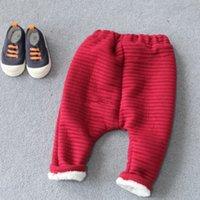 Wholesale Children s Harem Pants With Velvet Baby Cotton Trousers Pure Color Pants Baby Solid Trousers Fashion Slacks