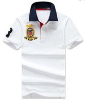 achat en gros de polo vers le bas-T-shirt manches courtes de polo de polos de chemises de polo des hommes de short de taille de S-XXL