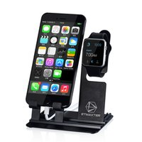 Wholesale ETMaxter Adjustable Cell Phone Stand In Metal Brackets Portable Charging Holder For iPhone iWacth Samsung S7 DHL