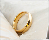 Wholesale Men s ring tungsten gold plating k gold ed single male act the role ofing gold luster tail ring male letteri