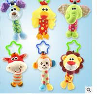 animals communications - Happy monkey animal baby hand rattle rattle stick hanging bell Toy Puzzle lathe The cultivation of interest parent child communication em