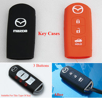 Wholesale Silicone Key Case Key Shell Key Holder Chain For MAZDA CX CX5 For MAZDA AXELA ATENZA Car Styling Buttons Key