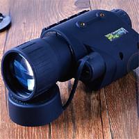 Capacité de chasse de vision nocturne polyvalente 3x / 5x pondérée à la lumière 200 verges à 70 heures travaillant sans IR résistant à l'eau