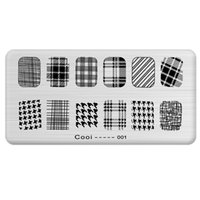 Wholesale cm Nail stamper Stainless Steel Template Nail Art Polish Stamping Plates Full Cover Pattern Stencils For Manicure Tool