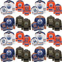 al por mayor ryan smyth-2017 hombres 50 Jonas Gustavsson 55 MARQUE LETESTU 67 BENOIT POULIOT 94 Ryan Smyth Edmonton Oilers Hockey sobre hielo Tercer Premier Stitched Jerseys