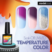 Wholesale Nail Gel Polish ml Temperature Chameleon Changing Color Soak off UV Colorful Gel Polish Varnish