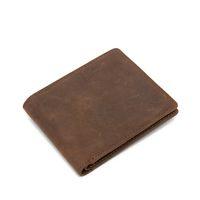 antique color photo - Antique Genuine Leather Men Wallet Folded Short Wallet with credit card Holder without zipper pocket Brown Color