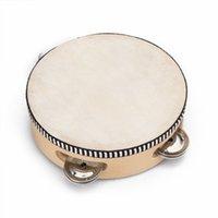 Wholesale SEWS quot Musical Tambourine Tamborine Drum Round Percussion for KTV Party