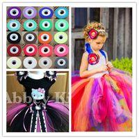 Wholesale 30 Colors Wedding Decoration Birthday Party Decoration Wedding Tutu Dress Tiffany White Tulle Fabric Spool