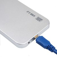 aluminium disks - New Arrival Ultrathin Aluminium Inch USB HDD Case Hard Drive Disk External Storage Case HDD Enclosure