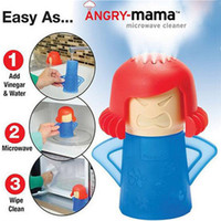Wholesale High Quality Angry Mama Microwave Oven Steam Cleaner Disinfects With Vinegar and Water Cartoon Microwave Oven Steam Cleaner