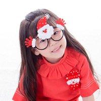 Wholesale Christmas Decorations Children PVC Sunglasses Frames With Snowman Santa Claus Deer Cute Decoration Girls Eyewear SF11
