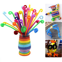 Wholesale 100pcs Montessori Materials Chenille Children Educational Toy Crafts For Kids Colorful Pipe Cleaner Toys Craft toys for children
