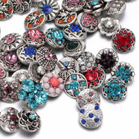 Wholesale 50pcs Mixed snap button charm High quality Rhinestone mm Metal Snap Button For Interchangeable DIY Ginger Snaps Jewelry