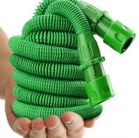 Wholesale expandable garden hose fexiable natural rubber water hose With plastic Spray Nozzle Head functions EU Version standard