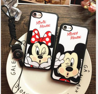 apple mouse batteries - Fashion Cartoon Lovers Mickey Mouse Minnie cover soft TPU silicon case For iPhone SE s s plus plus funda Coque cases