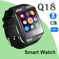 age curve - smart watch Q18 Bluetooth Wearable Curved Screen Touch High Quality Support For Android and IOS Phone Wristwatch samsung smart watches