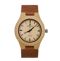 bamboo pin - TWINCITY wood watch Novel cool Bamboo Wooden Watch Men stylish Relogio Masculino Men s Watch Quartz leather band Wristwatch casual watches