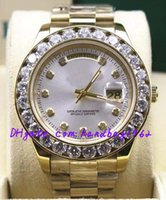 big machinery - Luxury Top Quality Automatic machinery watches Ladies MENS big diamond wristwatch gold Stainless steel strap white dial mm mm With d