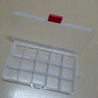 Wholesale Plastic Slots Compartment Adjustable electronic parts Storage Box Case Holder Organizer Container cm