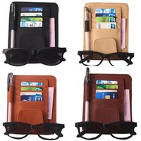 Wholesale pieces Auto Car Sun Visor Organizer Pouch Bag Card Storage Glasses Holder Multi Purpose Storage Bag Car Organizer