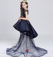 Wholesale Children dress detachable princess skirt Catwalk shows host Costume Flower girl dresses