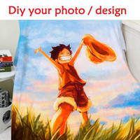 Coral Fleece best sofa fabrics - Blanket Custom Design Photo x150cm Cartoon Printed Sofa Bed Coral Fleece Blanket Kid Adult Warm Best Blanket