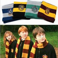 Wholesale 17CM CM New Fashion College Scarf Harry Potter Gryffindor Series scarf With Badge Personality Cosplay Knit Scarves b278