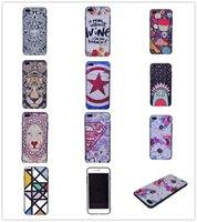 achat en gros de motif animaux-Étui de dessin animé de mode pour l'iPhone 7 6 Plus Xiaomi 5 Redmi 3 TPU couverture animal motif de peinture de dessin animé de dessin animé