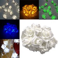 ac ls - Fashion Light LED Rose Flower String Lights V EU Plug Fairy Wedding Party Christmas Holiday Decoration LS
