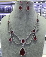 Wholesale New Necklace Earrings A CZ Princess Fashion Wedding Jewelry Sets For Women