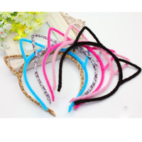 Wholesale Stylish Women Girls Furry Cat Ears Headband Devil Cat Head Hoop Fine Hair Ornaments Hair Accessories Headwear Sexy Hair Band