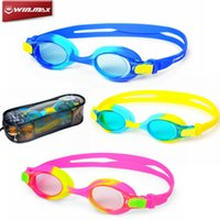 Wholesale New Arrival WINMAX Junior Swimming Multicolor Goggles UV Waterproof Silicone Adjustable Sports Swim Diving Glass For Children